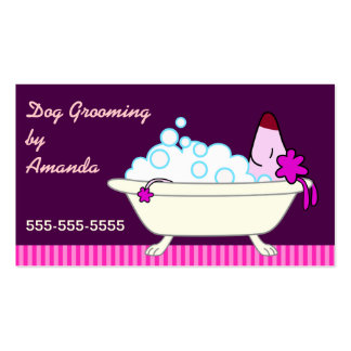 Dog in Bathtub - Pet Groomer Pack Of Standard Business Cards