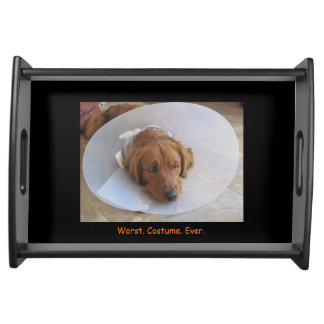 Dog in Cone Halloween Serving Tray