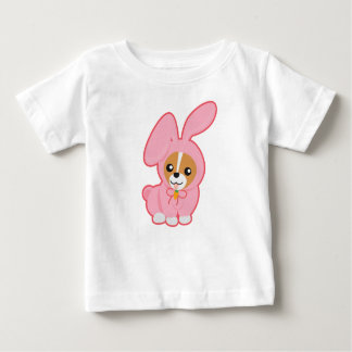 Dog in pink rabbit Cosplay Baby T-Shirt