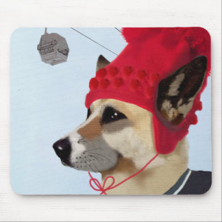 Dog in Ski Sweater Mouse Mat