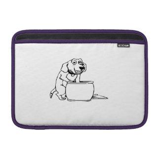 Dog in Snack Jar MacBook Air Sleeves