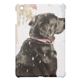 Dog in snow iPad mini covers
