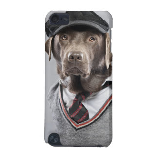 Dog in sweater and cap iPod touch 5G case