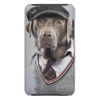 Dog in sweater and cap iPod touch covers