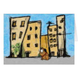 Dog in the City Greeting Card