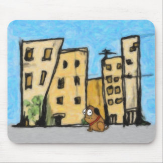 Dog in the City Mouse Pad