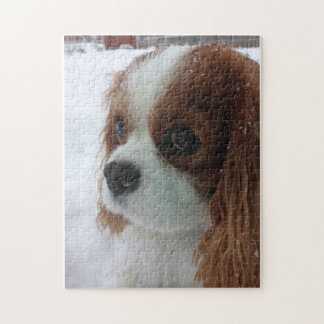 Dog in the Snow Jigsaw Puzzle