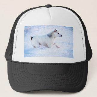 Dog in the Snow Trucker Hat