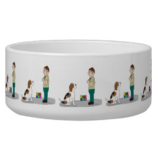 Dog is God spelled backwards Large Pet Bowl