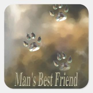 Dog is Man's Best Fried Gites Stickers