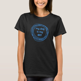 Dog Is My BFF All-Blue Doodle Circle T-Shirt