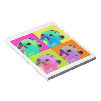 Dog, Jack Russell Terrier. Popart, Warhol - animal Notepads
