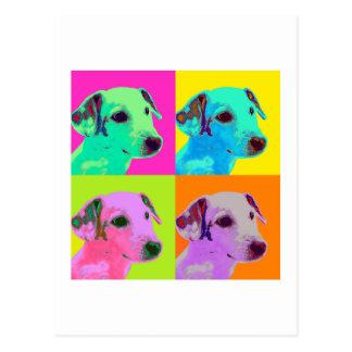 Dog, Jack Russels Terrier. Popart, Warhol Design Postcard