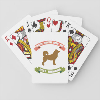 Dog Joke Poker Cards
