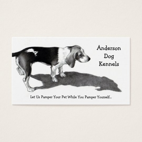 DOG KENNEL: FINE ART: BUSINESS CARDS