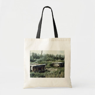 Dog Kennels, Swede Boy's Camp Tote Bags