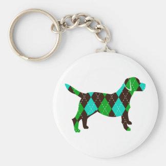 Dog Keychain - Argyle Labrador Key Chain