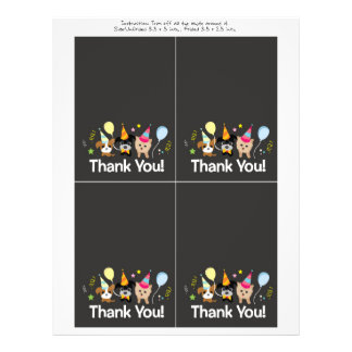 dog, kids birthday party Thank You card