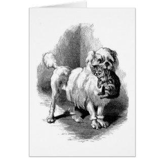 Dog & Kitten Greeting Card