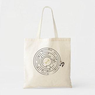 Dog labyrinth budget tote bag