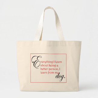 Dog lessons tote bags