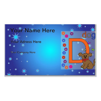 Dog Letter D Pack Of Standard Business Cards