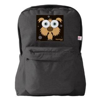 Dog(Light Brown) Backpack, Black Backpack