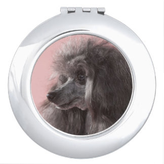 Dog looking away makeup mirrors