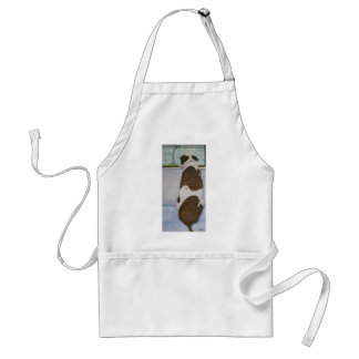 Dog Looking Out Window Adult Apron