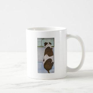 Dog Looking Out Window Mug