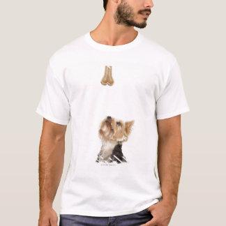 Dog looking up at bone T-Shirt