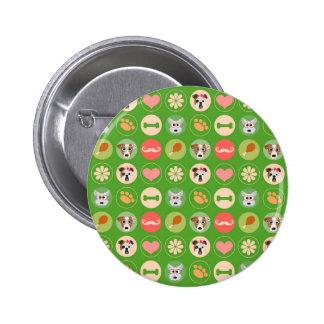 Dog Love on Green Pin