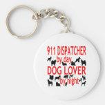 Dog Lover 911 Dispatcher Basic Round Button Key Ring