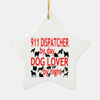 Dog Lover 911 Dispatcher Christmas Ornament