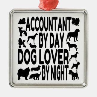 Dog Lover Accountant Silver-Colored Square Decoration