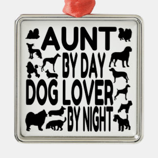 Dog Lover Aunt Silver-Colored Square Decoration
