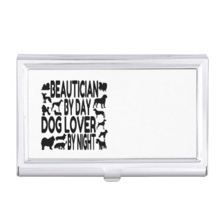 Dog Lover Beautician Business Card Holder