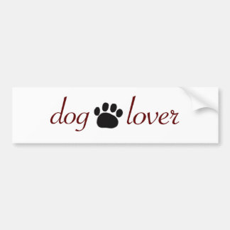 Dog Lover Bumper Sticker