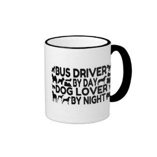 Dog Lover Bus Driver Ringer Coffee Mug