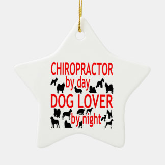 Dog Lover Chiropractor Ceramic Star Decoration