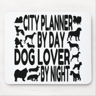 Dog Lover City Planner Mouse Pad