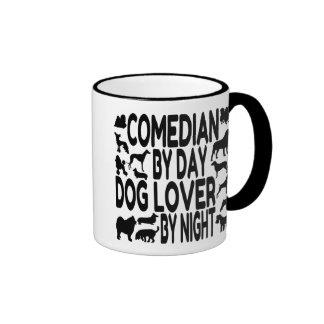Dog Lover Comedian Ringer Mug