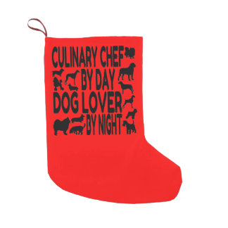 Dog Lover Culinary Chef Small Christmas Stocking