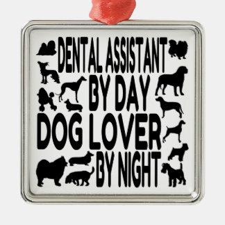 Dog Lover Dental Assistant Christmas Ornament