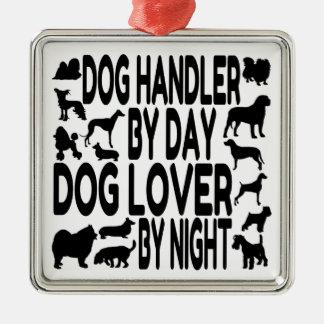 Dog Lover Dog Handler Silver-Colored Square Decoration