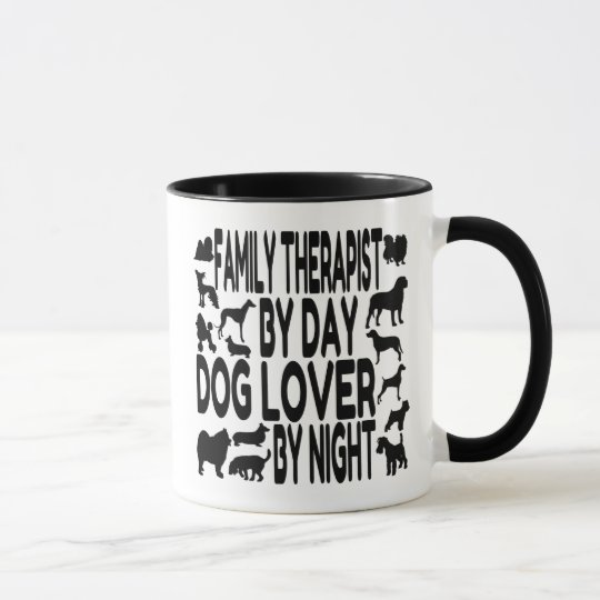 Dog Lover Family Therapist Mug