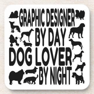 Dog Lover Graphic Designer Drink Coasters