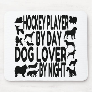 Dog Lover Hockey Player Mouse Mat