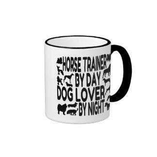 Dog Lover Horse Trainer Ringer Mug