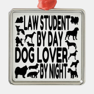 Dog Lover Law Student Silver-Colored Square Decoration